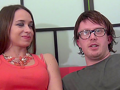 Olga Cabaeva seduced by a geeky lover for a cock riding session