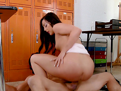 Whitney Wright cannot resist riding a mature lover's penis