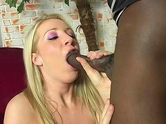 Nasty MILF Barb Cummings cannot resist black boners