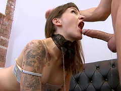 Adreena Winters is a horny sex slave in need of a pounding session