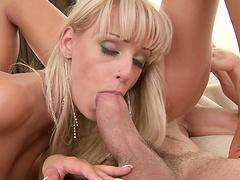 Destiny and Ivana Sugar love making a fellow's dick stiff