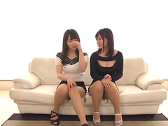 Hatsuki Nozomi enjoys sharing a massive black tool with a hot babe