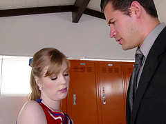 Dolly Leigh is a hot cheerleader who cannot resist a hunk's prick