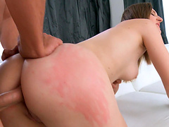 Ariadna takes off her clothes for a shag with a handsome hunk