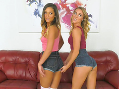 Jaye Summers and Zoey Taylor take off their clothes for a fuck