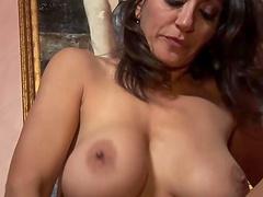 Persia Monir enjoys riding her fortunate lover's hard prick