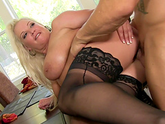 Rachel Love is a babe with big tits in need of a hard prick