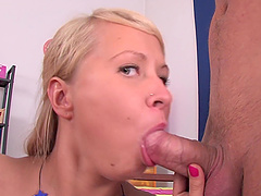 Double penetration session with blonde chick Amelie Pure