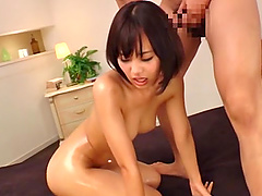 Asian Akane with medium ass penetrated hardcore in mmf