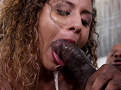Liv Revamped is a chick with curly hair wants to choke on a black dick