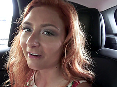 Kadence Marie gets fucked in a car by a horny stallion