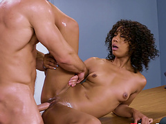 Misty Stone seduced by a handsome man for an interracial fuck