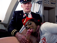 Naughty Aletta Ocean and her friend get pounded in the cockpit