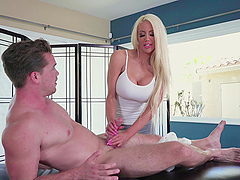 Nicolette Shea is a babe with massive boobs craving to ride a boner