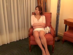 Stunning Japanese woman seduced by a hunk for a sex session
