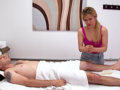 Akemi Rose is great at riding a stallion's erected prick