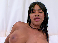 Chubby babe Kendra Lee opens her legs for a lover's BBC