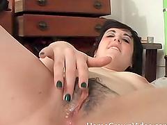 Cute brunette babe loves riding her fortunate partner's boner