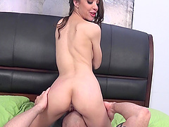 Nikki Next bends over for a man's erected pleasure tool