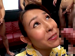 Imai Mayumi is a babe in a traditional outfit craving erected dicks