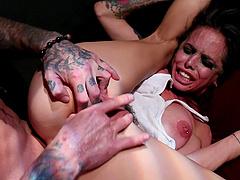 Hardcore fuck with insatiable sex slave Brandy Aniston