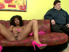 Misty Stone loves masturbating in front of horny fellows
