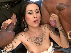 Tattooed sex queen Lulu Jung fucked by insatiable lovers