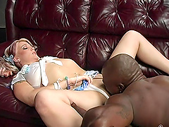Candy Monroe fucked by a black guy during a cuckold session