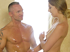 Chloe Scott is interested in a handsome man's erected penis