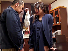 Gorgeous brunette Japanese woman wants to feel a man's hard tool