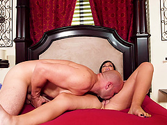 Aaliyah Love and Scarlett Mae are happy to share a fellow's cock