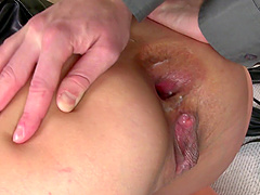Alysa Gap is a tied up MILF ravished by a couple of masters