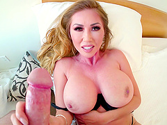 Kianna Dior is a busty MILF who wants to suck on a boner