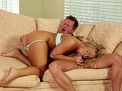 Cute blonde Katerina Kay shows off her amazing sexual abilities