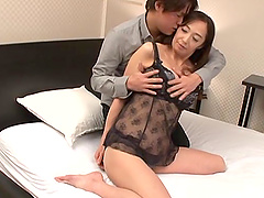 Otowa Ayako takes off her sexy lingerie for a sexual session