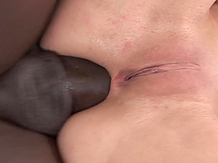 Amber Rayne enjoys an anal fuck with a horny black lover