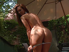 Jenny Appach is an elegant chick who loves showing off her cunt