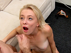 Massive dong is all petite blonde chick Maddy Rose craves to feel