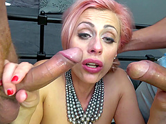 Double penetration for Brittany Bardot who enjoys every second  of it