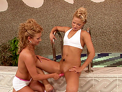 Nikita Blue in an amazing lesbian action including toys with her bae