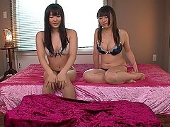 Threesome with Nozomi Hazuki and another lustful Japanese honey