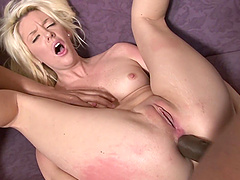 Brown fucker slamming the smooth pussy of blonde Courtney Taylor