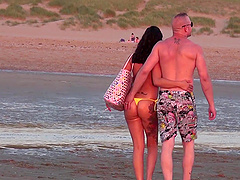 Taking Rachel Rose to the beach to put his boner into her throat