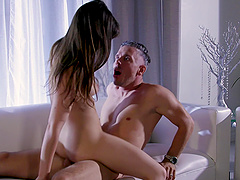 Remarkable doggy style pussy drilling with a milf Alison Rey