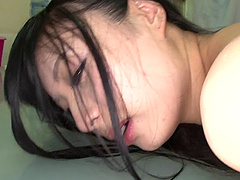 Japanese dick sucker was voracious while chewing a yummy boner