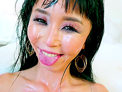 Dirty face fucking with an Asian hotness called Marica Hase