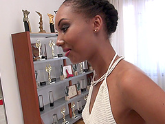 Interracial pussy drilling with Chade Rose and her partner