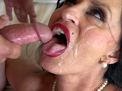 Huge-titted milf Rita Daniels having her slippery cunt boned