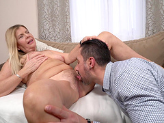 Milf Samantha get bent over and hit in her trembling pussy