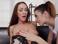 Smoking hot Tera Link and her friend have fun with new sex toys